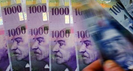 Swiss franc surges on rising Ukraine concerns