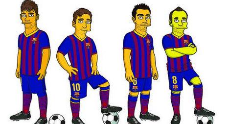 Simpsonized: Barça stars get cartoon treatment