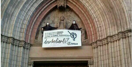 Pro-choicers stage daring Barcelona church protest