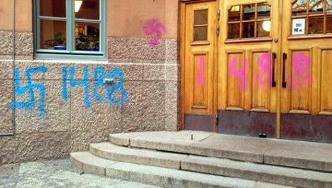 Jewish kids face Nazi graffiti at Swedish school