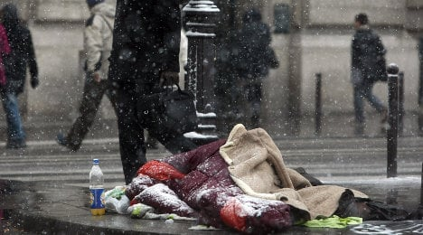 A homeless person dies 'every 20 hours' in France