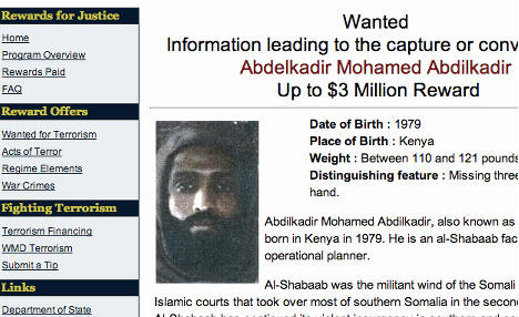 US issues $3m reward for 'Norwegian' Somali