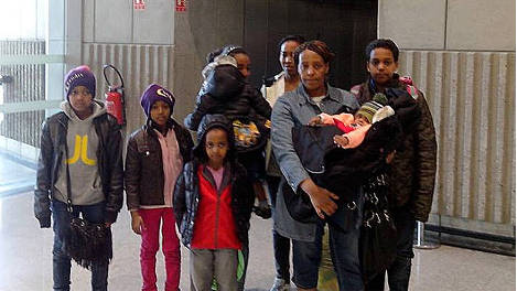 Asylum family stranded in Paris airport for a week