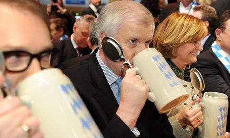 Merkel allies turn anti-EU in beery rants