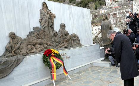President tells Greece sorry for Nazi crimes