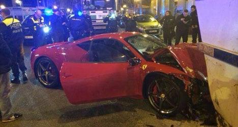 Ferrari owner crashes €240k car, then flees