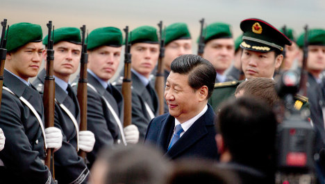 China's President Xi arrives in Germany