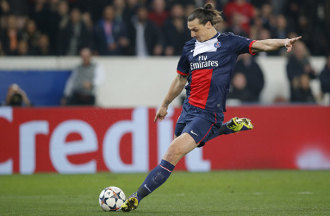 Zlatan nets double and sets PSG club record