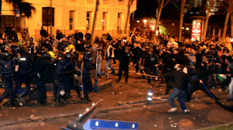 Madrid 'march for dignity' ends in clashes