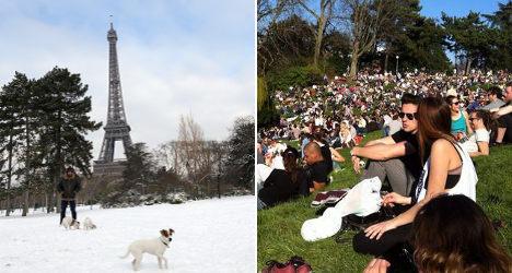 France enjoys record-breaking start to spring