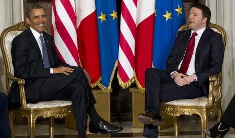 Obama backs Italy PM's 'ambition of ideas'