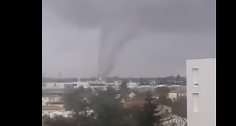 VIDEO: Freak tornado hits western France