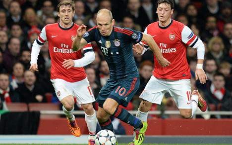Bayern Munich head up, Arsenal head out