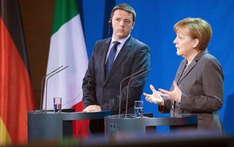 Merkel 'impressed by Italian PM's package'