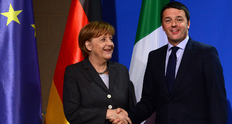 Merkel 'very impressed' with Renzi's plans