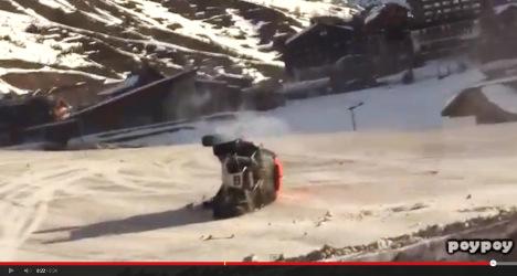 Frenchman crash lands in record car jump bid