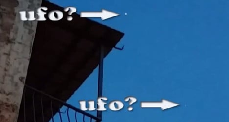 VIDEO: 'UFO' spotted flying over Rome