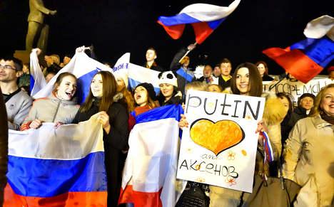 Merkel, Obama condemn Russian Crimea annex