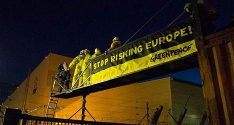 Greenpeace militants storm nuclear plant
