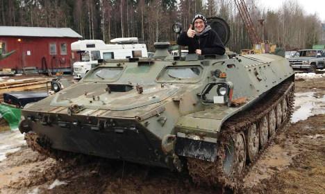Swedish man buys army tank 'on impulse'