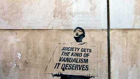 Banksy, you are not welcome in Stockholm!