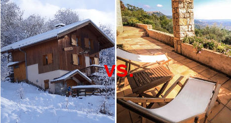 French Property Face-off: Alps versus Riviera