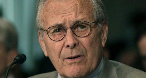 Donald Rumsfeld 'gets Swiss social benefits'