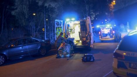 Three held after Stockholm pub shooting