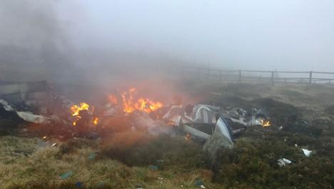 Two killed in mountain plane crash