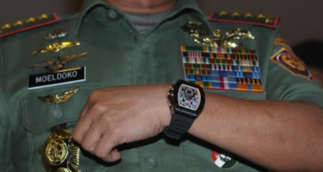 'My Swiss watch is fake': Indonesia's military chief