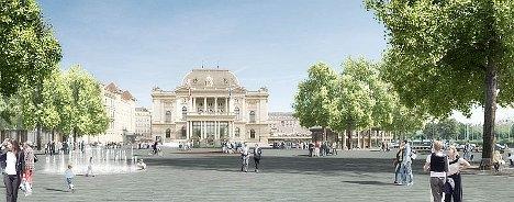 Zurich inaugurates city's giant quartzite plaza