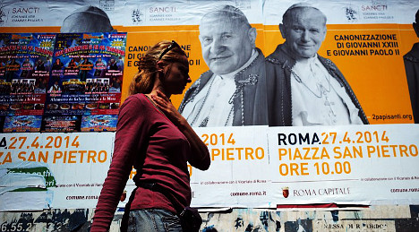 Skin and blood on show as Rome goes saint crazy