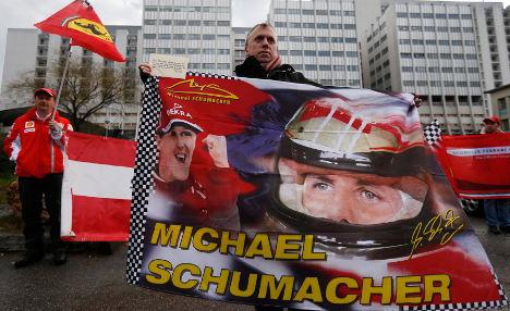 Schumacher shows 'small signs of progress'
