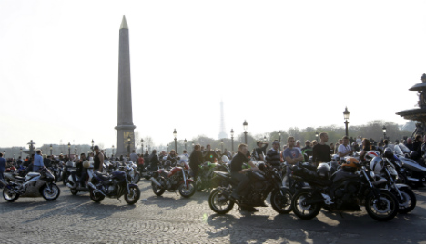 Angry French bikers protest speed limit cut