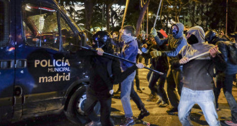 Police chief sacked over Madrid demo turned ugly
