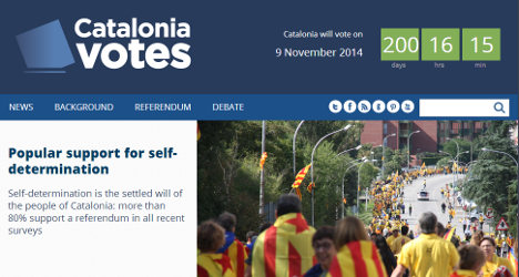 Independence website pushes Catalonia cause