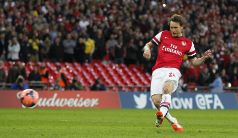 Källström: Cup win 'a great boost' for Arsenal