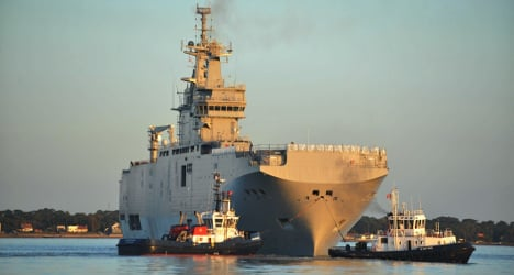 US concern over French warship sale to Russia
