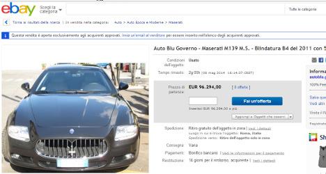 Italian government fails to flog Maseratis on eBay