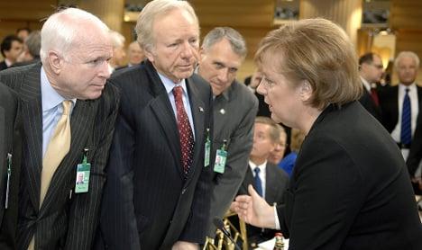 Germany fumes over McCain's Merkel attack