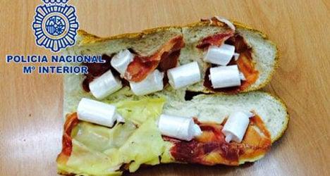 Police arrest man over cocaine sandwich