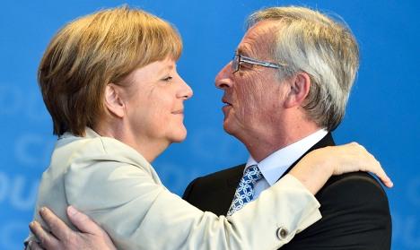 Merkel backs Juncker for next EC president