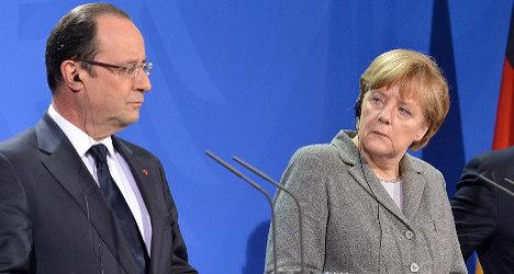 Merkel to host Hollande in her voter heartland