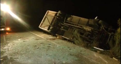 Five teens killed in tragic minibus crash