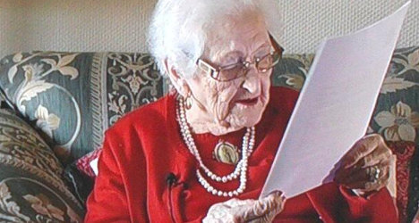 I'm staying! Spain's 104-year-old eviction fighter