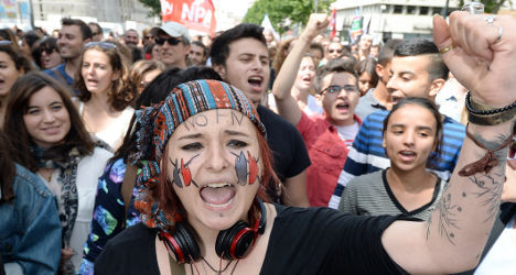 'French democracy is in danger': Protesters