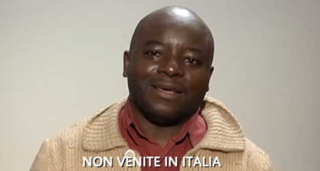 Immigrants in campaign clip: 'Don't come to Italy'