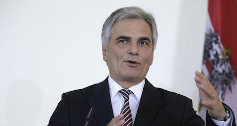 Austrian chancellor visits former Yugoslavia