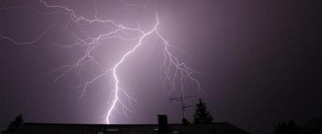 Lucky escape for lightning strike boy