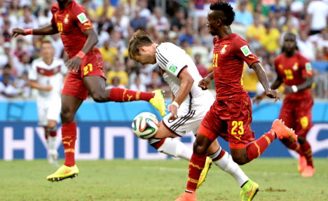 Frustration for Germany after Ghana draw
